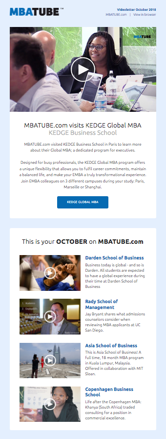 Videoletter October 2018