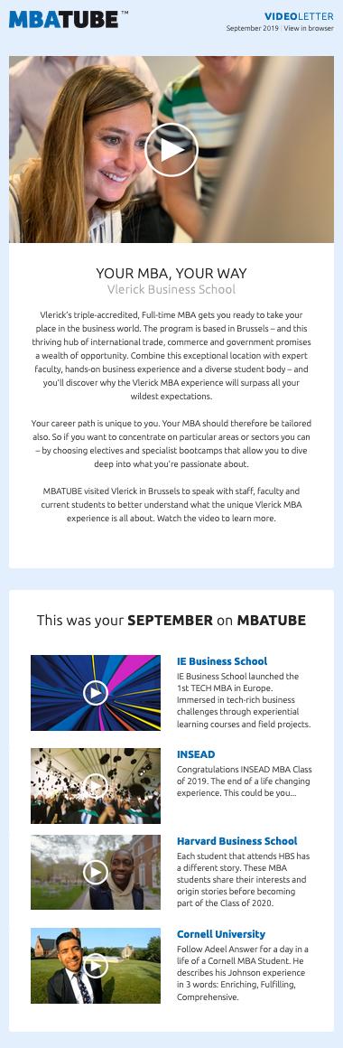 Videoletter September 2019